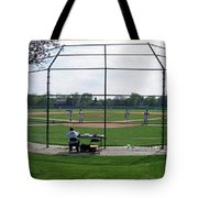 Baseball Playing Hard 3 Panel Composite 01 Tote Bag