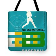 Baseball Poster Tote Bag