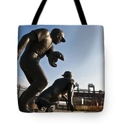 Baseball Statue At Citizens Bank Park Tote Bag by Bill Cannon