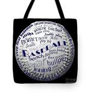 Baseball Terms Typography 2 Tote Bag