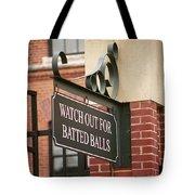 Baseball Warning Tote Bag by Frank Romeo