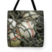 Baseballs And Net Tote Bag