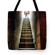 Basement Exit Tote Bag by Carlos Caetano
