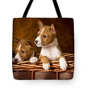 Basenji Puppies Tote Bag by Marvin Blaine