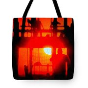 Basic Training Obstacle Course At Sunset Tote Bag