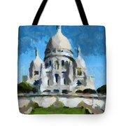 Basilica Sacred Heart- Paris Tote Bag