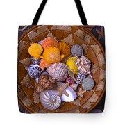 Basket Full Of Seashells Tote Bag
