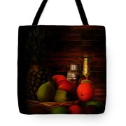 Basket Of Colors Tote Bag by Lourry Legarde