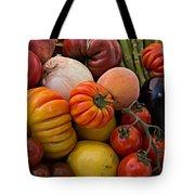 Basket Of Fruits And Vegetables Tote Bag