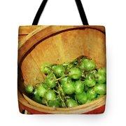 Basket Of Green Grapes Tote Bag by Susan Savad