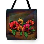 Basket Of Hibiscus Flowers Tote Bag