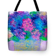 Basket Of Hydrangeas Tote Bag