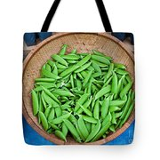Basket Of Organic Fresh Sugar Snap Peas Art Prints Tote Bag