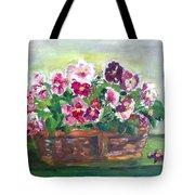 Basket Of Pansies Tote Bag