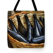 Basket With Bottles Tote Bag by Carlos Caetano