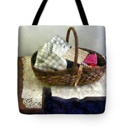 Basket With Cloth And Measuring Tape Tote Bag