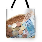 Basket With Coins And Banknotes Tote Bag