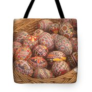 Basket With Easter Eggs Tote Bag