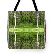 Basketball Forest Court Reflection 1 Tote Bag