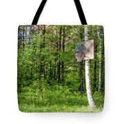 Basketball Forest Court Tote Bag