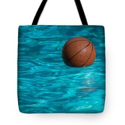Basketball In The Pool  Tote Bag