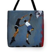 Basketball Players Tote Bag