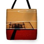 Basketball Shadows Tote Bag