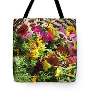 Basketful Of Flowers Tote Bag