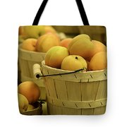 Baskets Of Apricots Squared Tote Bag by Julie Palencia