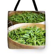 Baskets Of Fresh Picked Peas Tote Bag by Edward Fielding