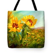 Basking In The Sun Tote Bag by Barbara Pirkle