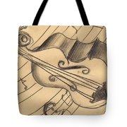 Bass Doodle Tote Bag