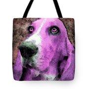 Basset Hound - Pop Art Pink Tote Bag