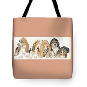 Basset Hound Puppies Tote Bag by Barbara Keith