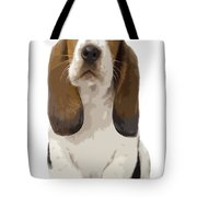 Basset Hound Puppy Tote Bag