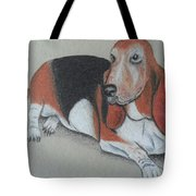 Bassett Puppy Tote Bag by Steve Jorde