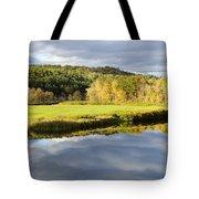 Bath Nh Autumn Panorama Tote Bag