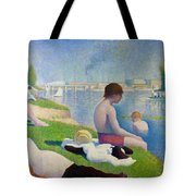 Bathers In Asnieres Tote Bag