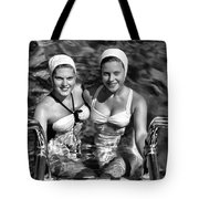 Bathing Beauties Black And White Tote Bag