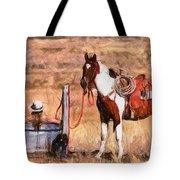 Bathing Cowgirl Tote Bag