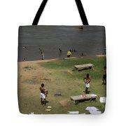 Bathing Ghats Tote Bag