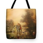 Bathing The Royal Elephant Tote Bag