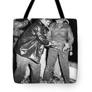 Batista Visits Shrimp Boat Tote Bag