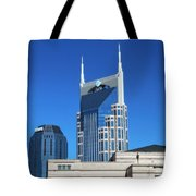 Batman Building And Nashville Skyline Tote Bag