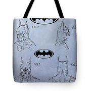 Batman Mask Patent Tote Bag