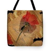 Bats And Roses Tote Bag