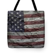 Battered Old Glory Tote Bag