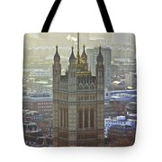 Battersea Power Station And Victoria Tower London Tote Bag