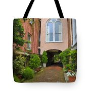 Battery Carriage House Inn Alley Tote Bag