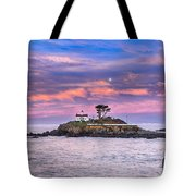 Battery Point Lighthouse And Moon Tote Bag
